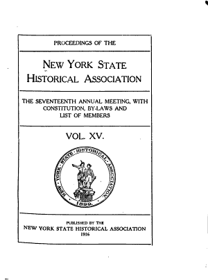 Proceedings of the New York State Historical Association PDF