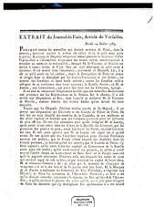 Extrait du Journal de Paris, Article de Versailles: Mardi 14 Juillet 1789