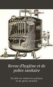 Revue d'hygiène et de police sanitaire: Volume27