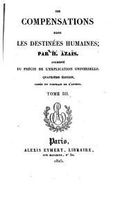 Des compensations dans les destinées humaines: Volume3