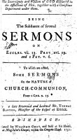 The Sovereignty and Wisdom of God Displayed in the Afflictions of Men  Together with a Christian Deportment Under Them  Being the Substance of Several Sermons     To which are Added  Some Sermons on the Nature of Church communion  Etc   The Preface Signed by Alex Colden and Others   PDF