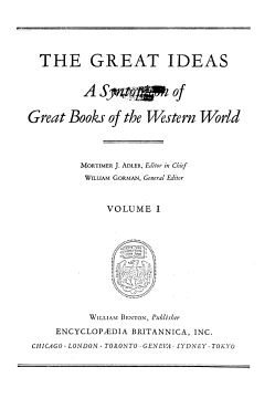 Great Books of the Western World  The great ideas PDF