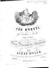 Tre duetti per violino e viola