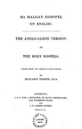 Anglo-Saxon version of the Holy Gospels