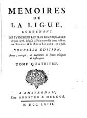 Le premier (-sixiesme) recueil, contenant les choses (l'histoire des choses) plus memorables aduenues sous la Ligue [ed. by S. Goulart].