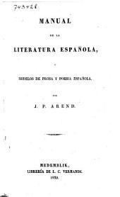 Manual de la literatura Española, o Modelos de prosa y poesia Española