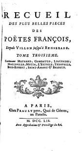 Recueil des plus belles pièces des poëtes françois: depuis Villon jusqu'à Benserade