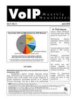 VoIP Monthly Newsletter June 2010 PDF