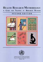 Health Research Methodology PDF