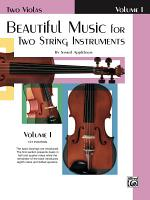 Beautiful Music for Two String Instruments  Book I PDF
