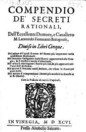 Compendio de secreti rationali diviso in libri 5 (etc.)- Vinegia, Altobello Salicato 1596