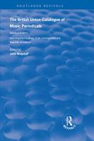 The British Union Catalogue of Music Periodicals PDF