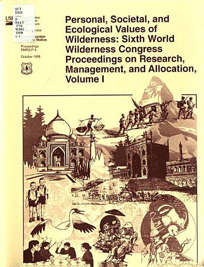 Personal  Societal  and Ecological Values of Wilderness PDF