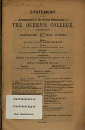 Statement of the arrangements in the several Departments of the Queen's College, Birmingham: 1850 - 1851