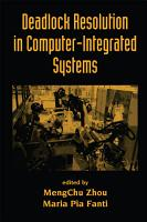 Deadlock Resolution in Computer Integrated Systems PDF
