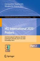 HCI International 2020   Posters PDF