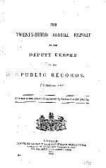 Annual Report of the Deputy Keeper of the Public Records