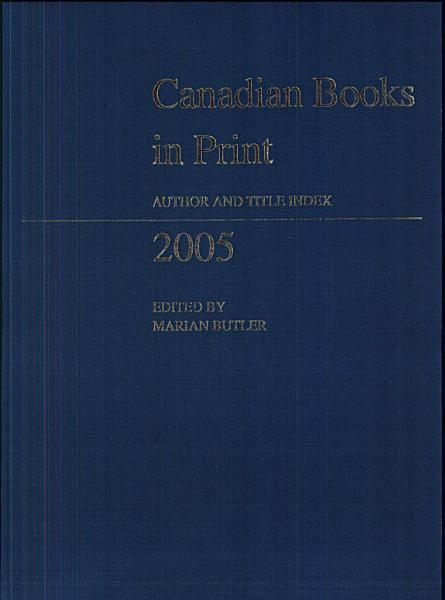 Download Canadian Books in Print Book