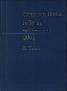 Canadian Books in Print PDF