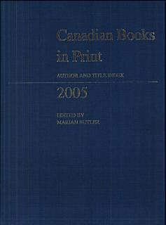 Canadian Books in Print Book