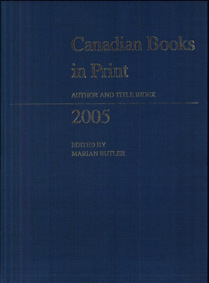 Canadian Books in Print PDF