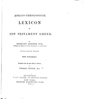 Biblico theological Lexicon of New Testament Greek