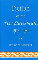 Fiction of the New Statesman  1913 1939 PDF