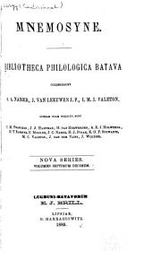 Mnemosyne: Bibliotheca Classica Batava