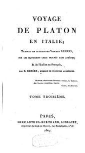 Voyage de Platon en Italie: Volume3