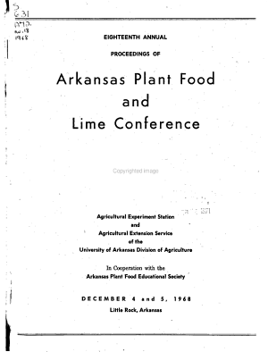 Annual Proceedings of Arkansas Plant Food and Lime Conference PDF