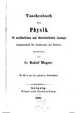 Taschenbuch der Physik im ausführlichen u. übersichtlichen Auszuge hauptsächlich für Studirende der Medicin