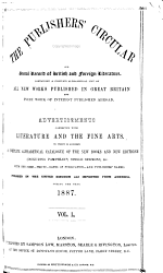 The Publishers' Circular and General Record of British and Foreign Literature