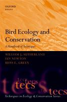 Bird Ecology and Conservation PDF