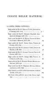 La Santa Chiesa Cattolica dagli scritti degli Arcivescovi Ussher e Bramhall, dei Vescovi Taylor, Ferne, Cosin, Pearson, Bull, e dei Dottori Hooker e Jackson. Estratto di F. M.