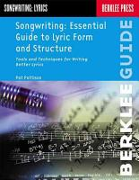 Managing Lyric Structure PDF