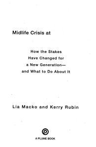 Midlife Crisis At Thirty PDF