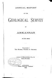 Annual Report of the Geological Survey of Arkansas: Volume 1