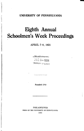Schoolmen's Week: Proceedings, Volumes 8-9