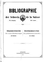 Bibliographie der Schweiz PDF