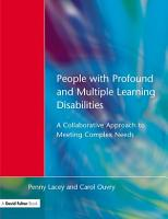 People with Profound   Multiple Learning Disabilities PDF