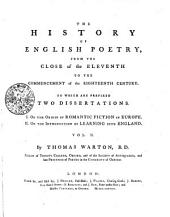 The History of English Poetry, from the Close of the Eleventh to the Commencement of the Eighteenth Century: Volume 2