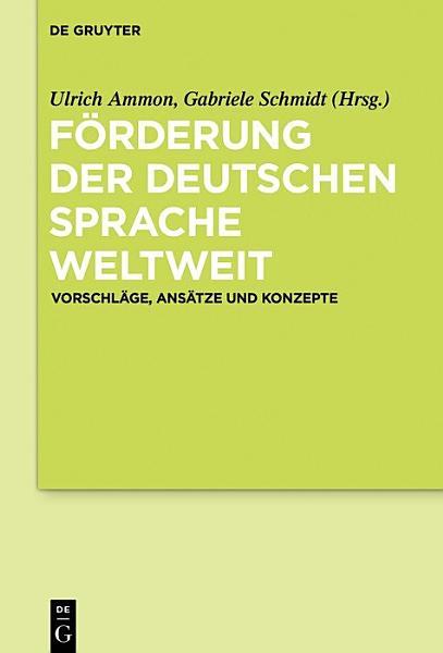 Forderung Der Deutschen Sprache Weltweit