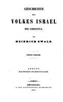 Geschichte des Volkes Israel  Die Alterth  mer des Volkes Israel  Anhang zum 2  und 3  Bande PDF