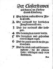 Eine ungehewre wunderbarliche Absolution, der Closterfrawen im Fürstenthumb Lüneburg: mit ihrer auslegung