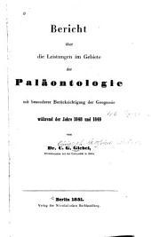 Bericht über die Leistungen im Gebiete der Paläontologie mit besonderer Berücksichtigung der Geognosie während der Jahre 1848 und 1849
