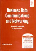 BUSINESS DATA COMMUNICATIONS AND NETWORKING  8TH ED PDF