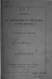 ... Set of Metrical Translations from The Sanskrit: By J. Muir. For private circulation, Volume 1