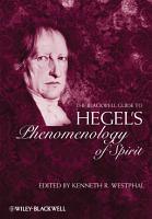 The Blackwell Guide to Hegel s Phenomenology of Spirit PDF