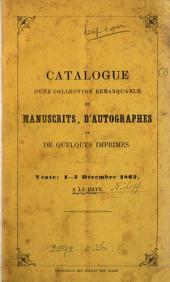 Catalogue d'une collection ... de manuscrits, d'autographes et de quelques imprimés concernant l'histoire ... des Pays-Bas [the property of P. van Limborch].