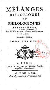 Mélanges historiques et philologiques